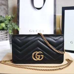 Gucci Bags - •SALE• Gucci GG Marmont Mini Quilted Chain Handbag